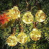 Lichterkette Außen, 11.7M Lichterkette Glühbirnen außen mit 30er Birnen G40, IP44 Wasserdicht Deko Licht für Garten, Zuhause, Party, Bar,...