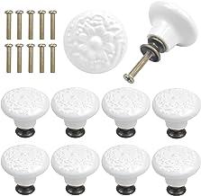 AvoDovA Keramische knoppen, 34 mm, vintage kastdeurknoppen, ladegrepen, keramische deurgrepen, ladenknoppen, ladenknoppen,...