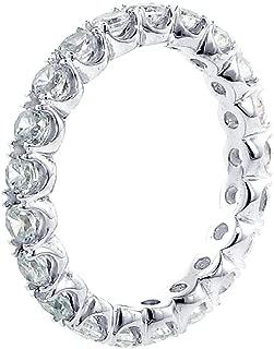 VIP Jewelry Art White Gold Split Prong Set Womens Diamond Eternity Anniversary Wedding Band (1.70-2.30 CT TDW)