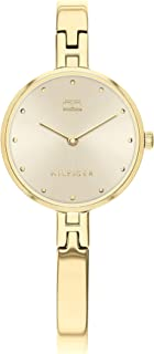 Tommy Hilfiger Women's Quartz Watch with Stainless Steel Strap, Gold Plated, 6 (Model: 1782135)