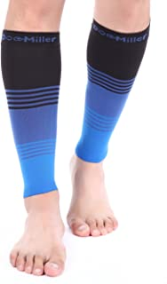 Doc Miller Premium Calf Compression Sleeve Dress Series 1 Pair 20-30mmHg Strong Calf Support Graduated Pressure Sports Running Recovery Shin Splints Varicose Veins (BlackBlueBlue, XX-Large)