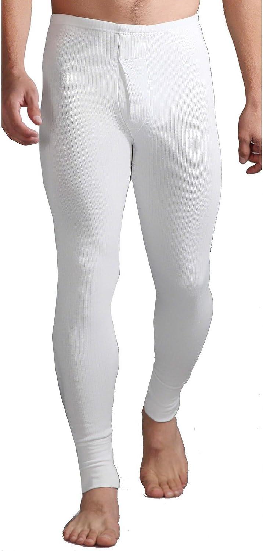 HEAT HOLDERS Mens Cotton Thermal Underwear Long Johns White XXL 44-46