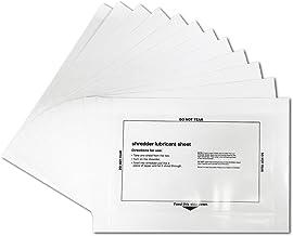 Paper Shredder Sharpening & Lubricant Sheets & Shredder Cleaning Sheets (12 Pack)