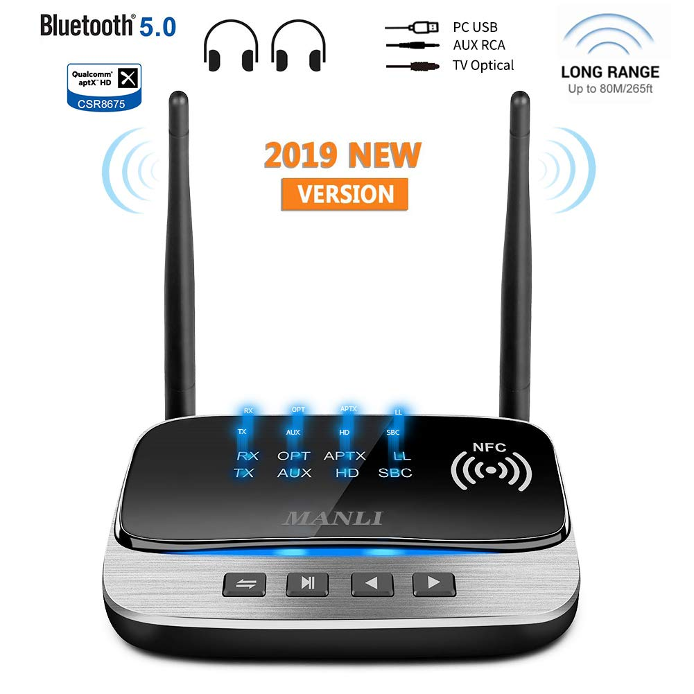 iDARS Airplane Bluetooth Transmitter, Wireless Audio Adapter