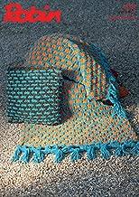 Robin Home Throw Blanket & Cushion Firecracker Knitting Pattern 3002 Super Chunky