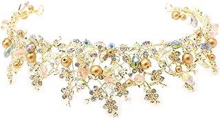 SimpleLife Bridal Princess Austria Strass Crown Crown Tiara Wedding Crown Veil Headband