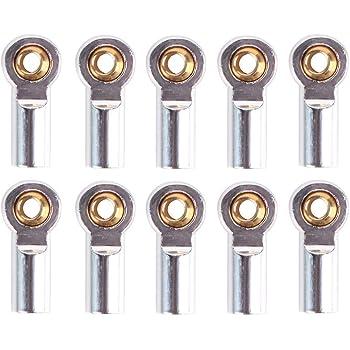 Plata Nrpfell 10 Unids Metal M3 Articulaci/óN de R/óTula de Barra de Acoplamiento para 1//10 RC Car Crawler AXIAL SCX10 D90 D110 CC01