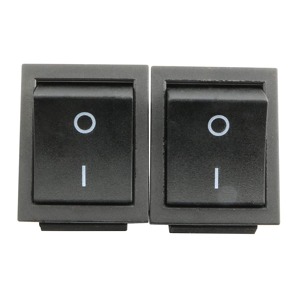 RuiLing 2-Pack DPST 2 Position 4Pin Boat Rocker Switch with Light 16A 250V Toggle Switches Snap ON/Off for Car Dash Dashboard Truck Home Red Button