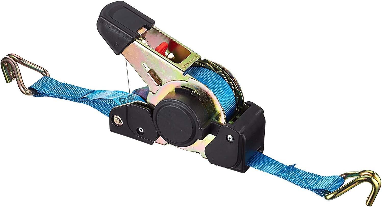 Connex Zurrgurt Einteilig 4 5 M X 50 Mm 1500 Kg Maximale Belastbarkeit Aufrollautomatik Mit Spannratsche Spitzhaken Aus Polyester Spanngurt Ladungssicherung Ratschengurt Dy270624 Baumarkt