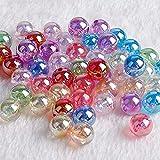 50 bolas de cristal de 8 mm, color crema, canicas pequeñas, juego de consola, pinball, máquina de bola de rebote (color mezclado)