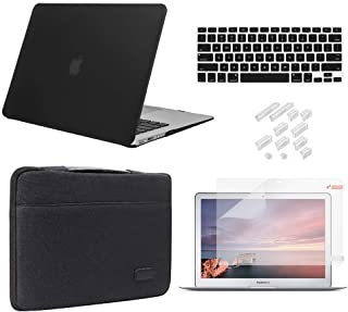 MacBook Air 13 Inch Case 2018 2019 Release Model A1932 Bundle 5 in 1, iCasso Hard Plastic Case, Sleeve, Screen Protector, ...