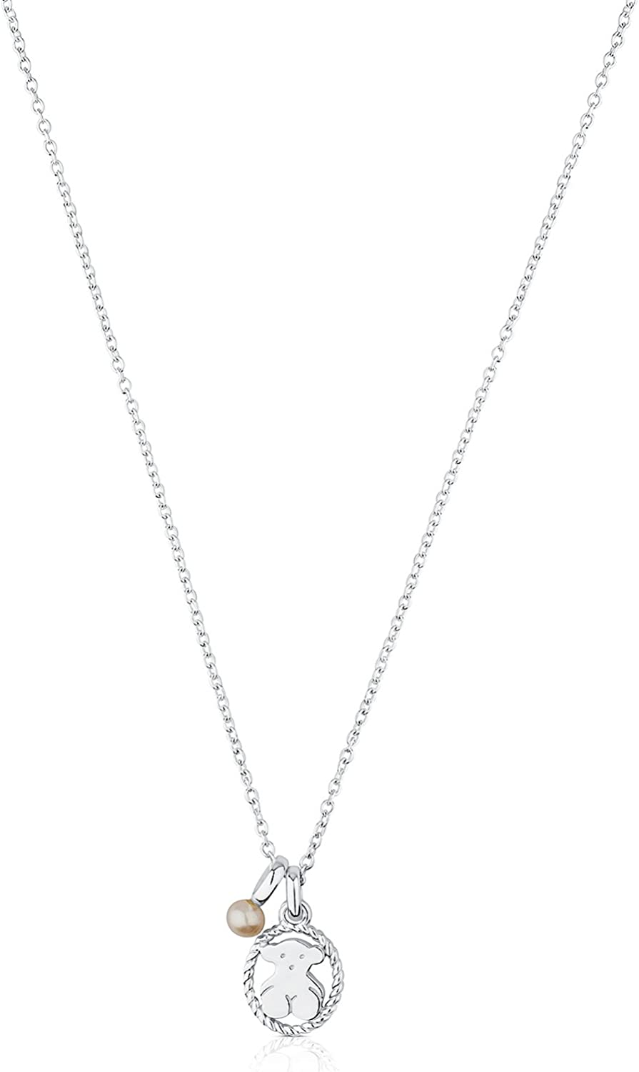 TOUS Al sold out. Camee 925 Silver Pendant Special price for a limited time Freshw with Necklace White Chinese