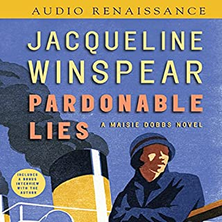 Pardonable Lies     A Maisie Dobbs Novel              Written by:                                                                                                                                 Jacqueline Winspear                               Narrated by:                                                                                                                                 Orlaugh Cassidy                      Length: 10 hrs and 22 mins     9 ratings     Overall 4.8