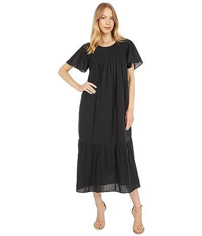Madewell Embroidered Smocked Midi Dress