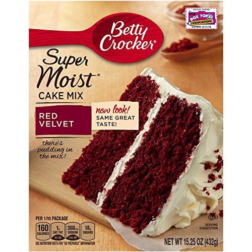 Betty Crocker Super Moist Cake Mix, Red Velvet, 15.25 Ounce