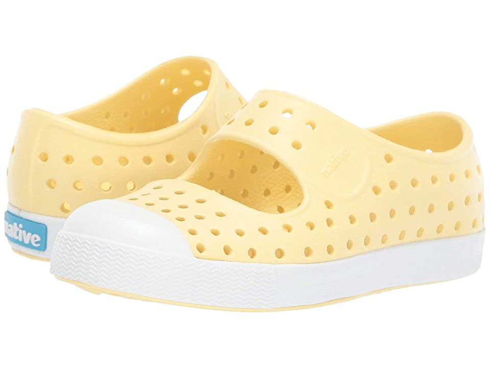 Native Kids Shoes Juniper (Toddler/Little Kid) (Gone Bananas Yellow/Shell White) Girls Shoes
