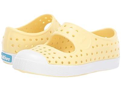 Native Kids Shoes Juniper (Toddler/Little Kid) (Gone Bananas Yellow/Shell White) Girls Shoes