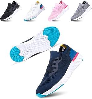Scarpe Ginnastica Donna Sneakers Uomo Corsa Running Respirabile Mesh Casual All'Aperto Sportive Allacciare Calzature Basse...