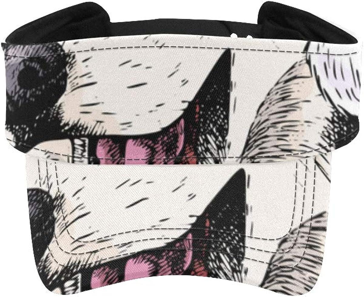 Men's Sun Visor Hat Siberian Naughty Runni Quantity limited Sport low-pricing Husky