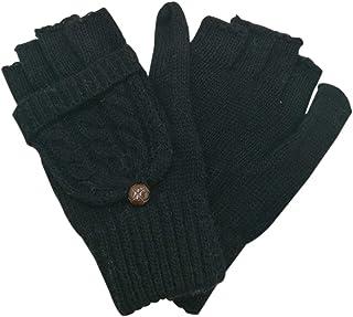 Bestgift Women's Wool Knit Warm Convertible Sentry Mittens