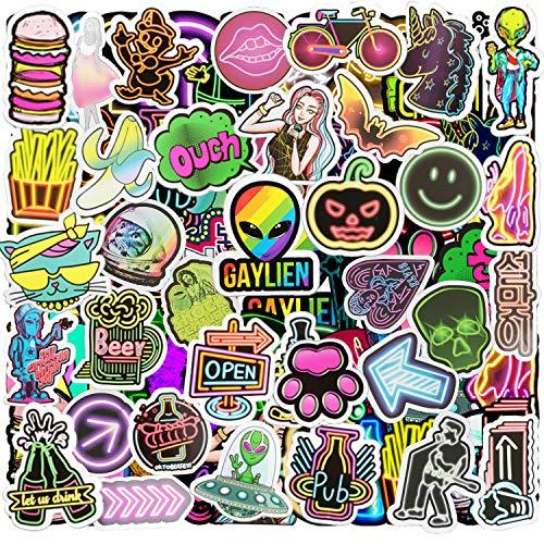 Jackify Vinyl Sticker Set[53pcs], Graffiti Aufkleber Decals, Bumper Stickers für Auto, Skateboard, Gepäck, Fahrrad, Reisekoffer, Laptop