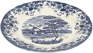 Claytan Windmill Blue Soup Plate 24cm