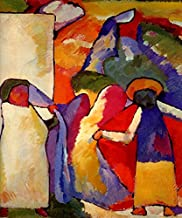 IMPROVISATION VI THE AFRICAN 1909 ORIENTAL PAINTING BY WASSILY KANDINSKY ON CANVAS REPRO