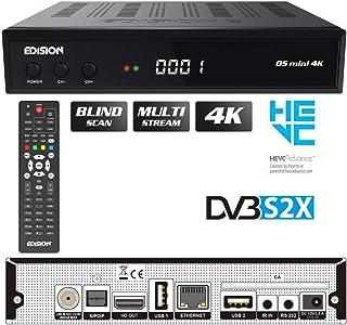 Edision OS MINI 4K S2X, E2 Linux 4Κ UHD, DVB-S2X ricevitore MULTI STREAM, BLIND SCAN, T2MI Tuner