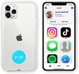 Popl (Blue) Digital Business Card and Phone Accessory - NFC Tag That Instantly Shares Social Media, Contact Info, Music, P...