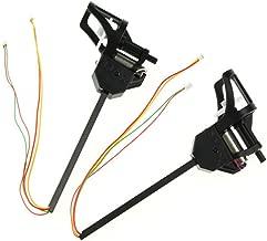 Coolplay UDI Clockwise and Anti-Clockwise Motor Set Spare Parts for UDI U817 U817C U817A U818A RC Quadcopter (Blue LED)