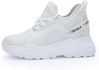 AONEGOLD Baskets Compensées Femmes Chaussure de Sport Fitness Casuel Sneakers Talon de 8 cm