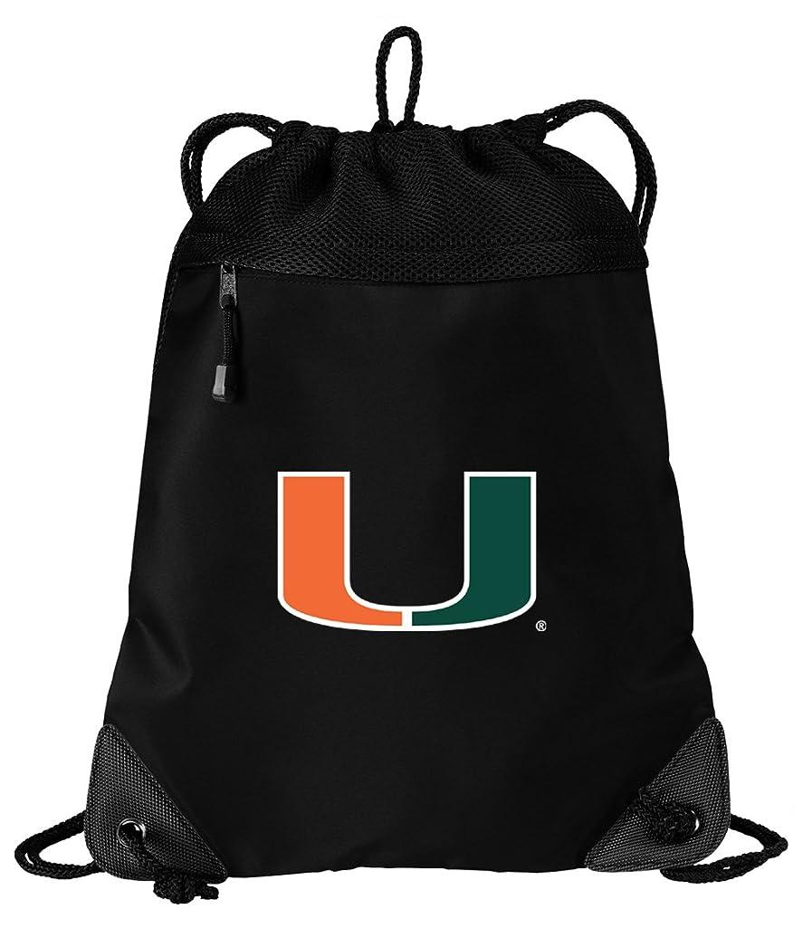 硬化する脱臼する鎖マイアミCanes巾着バッグ大学のマイアミCinch PackバックパックUniqueメッシュ&マイクロファイバー