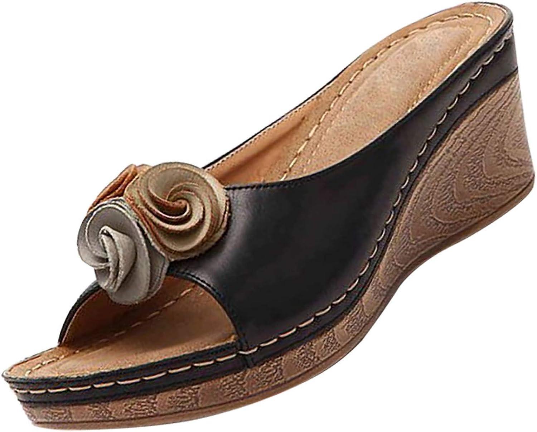 Autumn New Finally resale start Women Low Heel 5% OFF All-Ma Comfort Retro Slippers Non-Slip