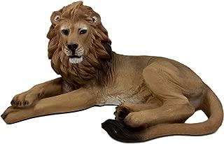 Ebros African King Aslan Lion On Repose Statue 16