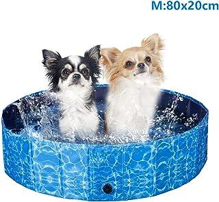 XIAPIA Piscina Perros Grande-Plegable Banera para Perros Piscina Perros Rigida Piscina Hinchable Perro Desmontables Portatil Regalo para Mascotas (80 x 20cm)