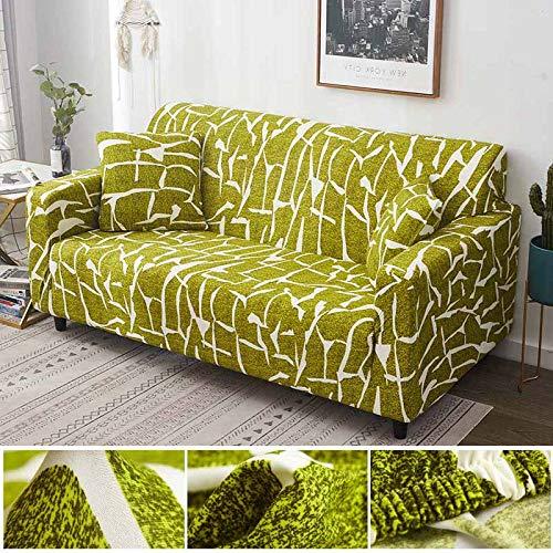 WXQY Funda de sofá con diseño de Hoja nórdica, Funda de sofá elástica para Sala de Estar, Funda de sofá Universal para Mascotas, Funda de sofá Individual para el hogar A16, 4 plazas