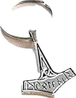 Royal Swan Mjölnir Thorshammer Charm Schlüsselanhänger Wikinger Schlüsselanhänger Thorshammer Schlüsselanhänger Mjölnir Schlüsselanhänger Norse Unisex Schlüsselanhänger für Ihn Autozubehör