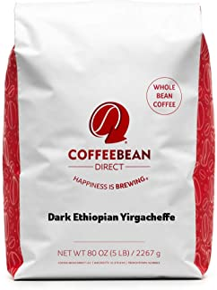 Sponsored Ad - Coffee Bean Dark Ethiopian Yirgacheffe, Whole Bean Coffee, 5-Pound Bag