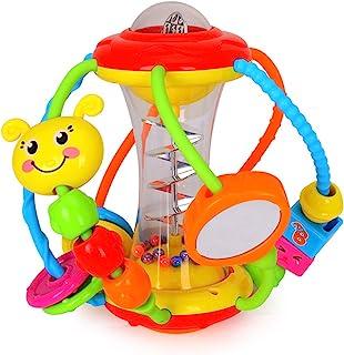 ألعاب الأطفال من هولا لمدة 6 إلى 12 شهرًا، كرة نشاط خشخيشة للأطفال، شاكر، حمل وتدور راتل، ألعاب تعليمية زحفة للأطفال الرضع...