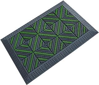 JIAJUAN Non-Slip Outdoor Doormat 3 Brush Heavy Duty Plastic Combination Entryway Floor Mats Durable Dust Removal (Color : ...