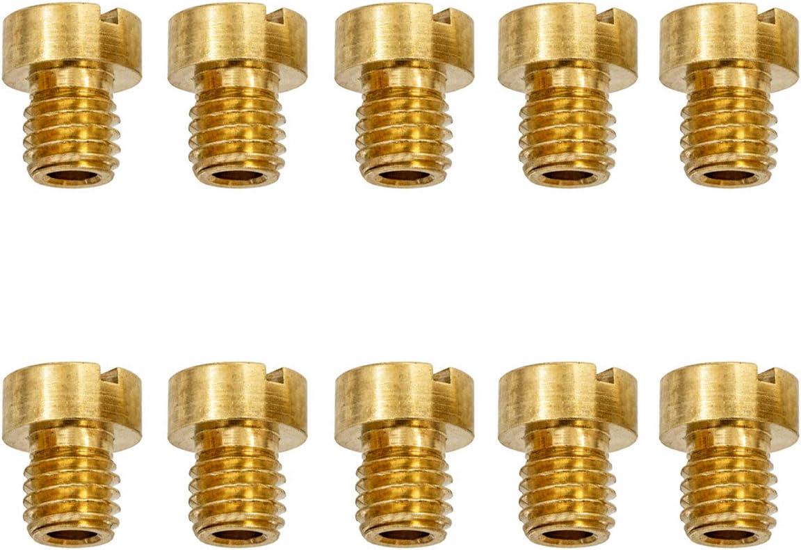 Easyboost Boite de 10 Gicleurs 6mm pour Carburateur DellOrto PHBN-PHVA 12 et 17.5mm Taille 50-52-55-58-60-62-65-68-70-72 pour Scooter Moto 50 Mob