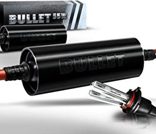 OPT7 Bullet Choice HID H10 9040-9145 55W Xenon Kit - 3x Brighter - 3x Longer Life - All Bulb Colors and Sizes - [6000K Lightning Blue Xenon]