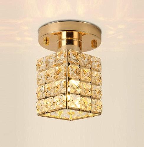 Lustre Allée Simple S'Allume Plafonniers Nordic Led éclairage De Hall éclairage De Porche Accueil Lampes De Couloir En Cristal