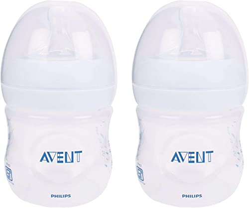 Philips Avent 125ml Natural Feeding Bottle (Clear, Pack of 2)