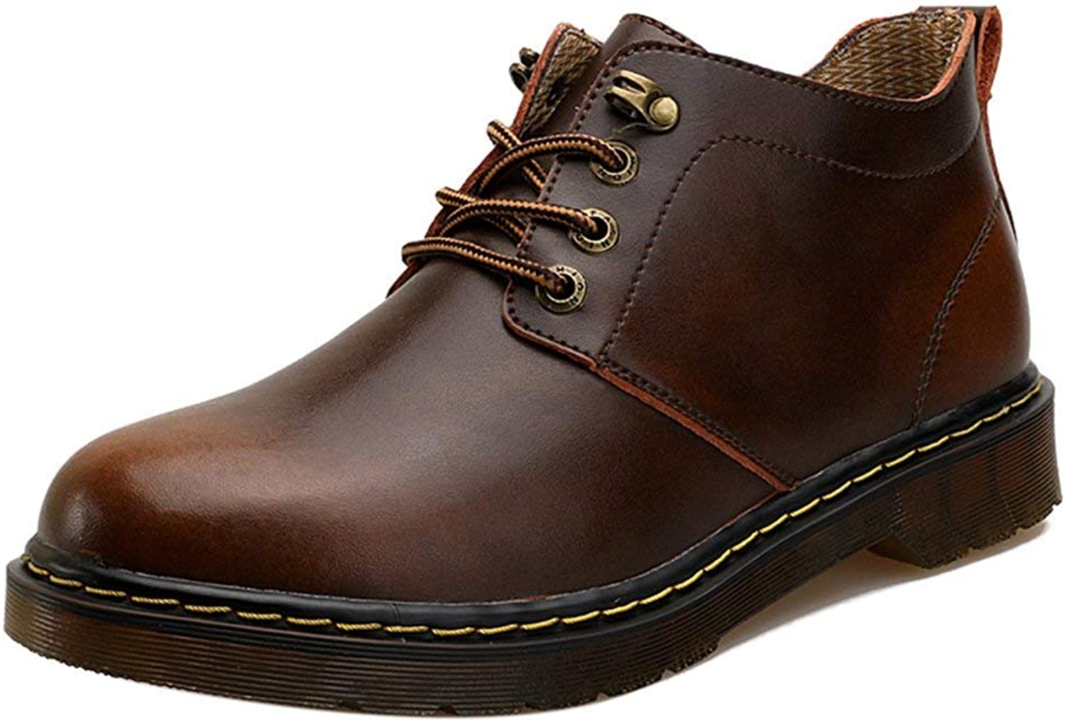 ZHRUI Men Chukka Boots Lace Up Work shoes