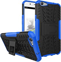 Ikwcase OPPO F1s Case, Heavy Duty Armor Tough Hybrid Shockproof Dual Layer Kickstand Protective Case Cover for OPPO A59 / OPPO F1s Blue