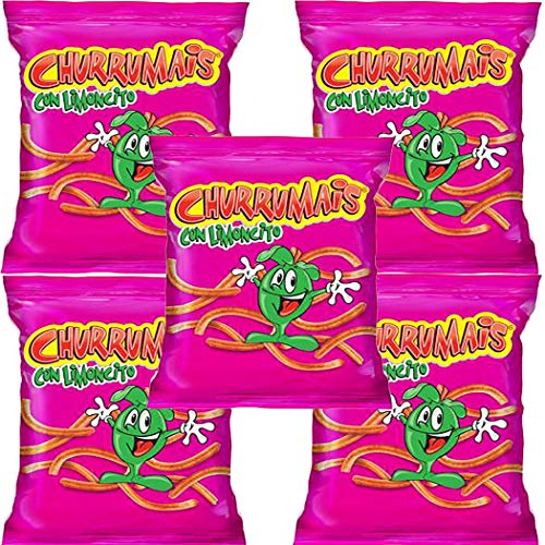 CHURRUMAIS CON LIMONCITO 58g PACKAGE (Box with 5 bags)