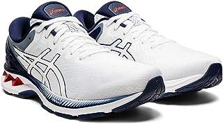 ASICS Men's Gel-Kayano 27 Running Shoes, 11.5M, White/Peacoat