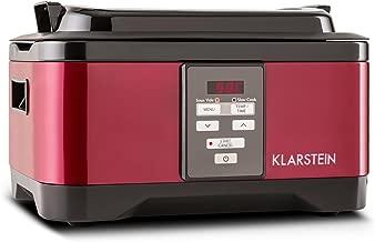 Klarstein Set Thermosoudeuse /• Cuiseur sous Vide /• Mijoteuse /• Slow Cooker /• 6L /• 550 W /• Mode Auto ou Manuel /• Temp/ératures r/éguli/ères Pendant des Heures /• Surface en INOX bross/é