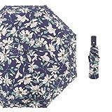 QAQ Regenschirm-Schlaggewebe Schwarzer Kunststoff Automatik 3-Fach 8 Knochensitz Zum Öffnen Und Schließen des Sonnenschutzes,C1,58Cm